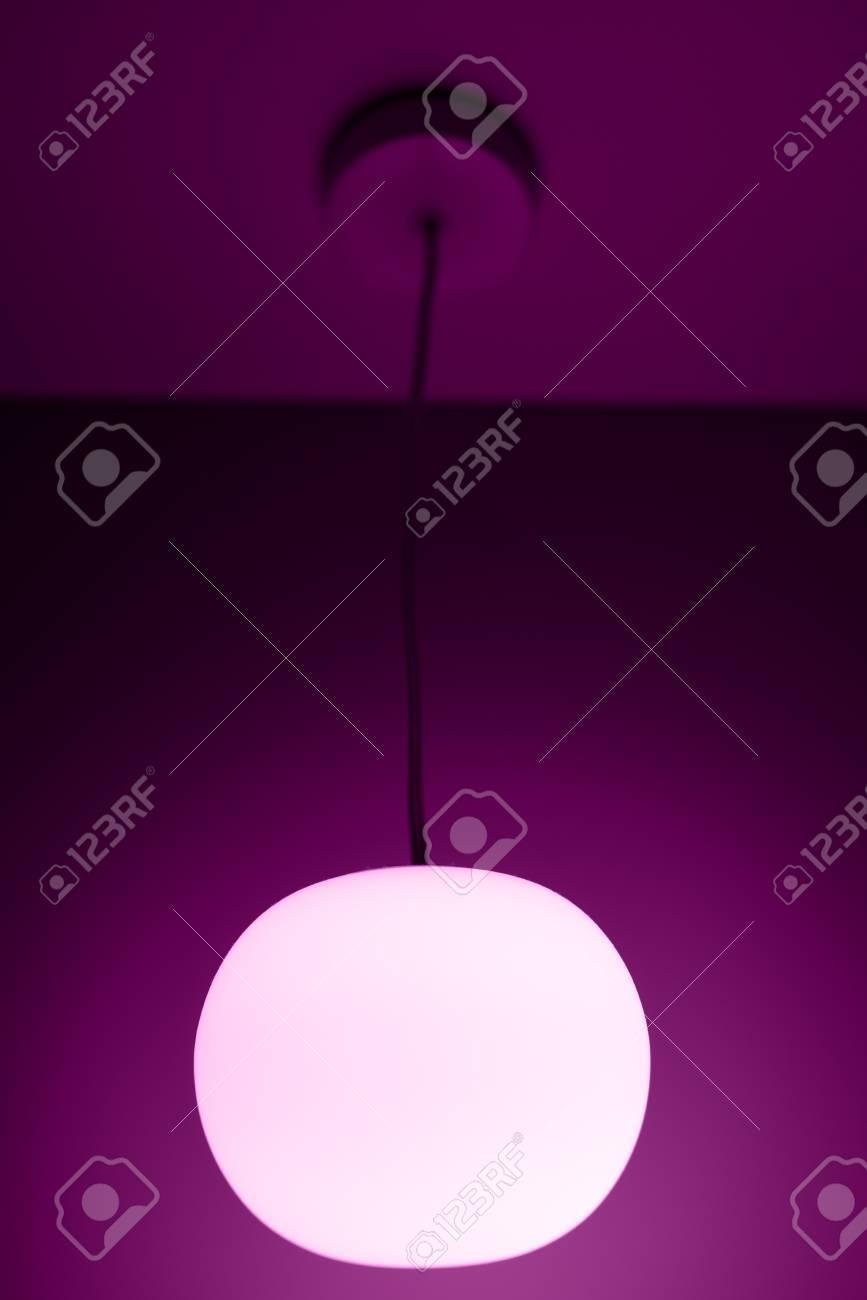 Sphere Formige Lampe Mit Langem Kabel Lizenzfreie Fotos Bilder Und