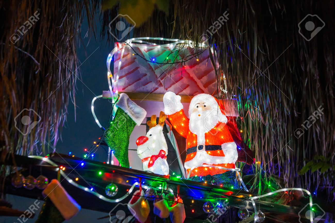Beautiful Outdoor Christmas Lights Every Year Decorating Houses Stock Photo Picture And Royalty Free Image Image 98619440