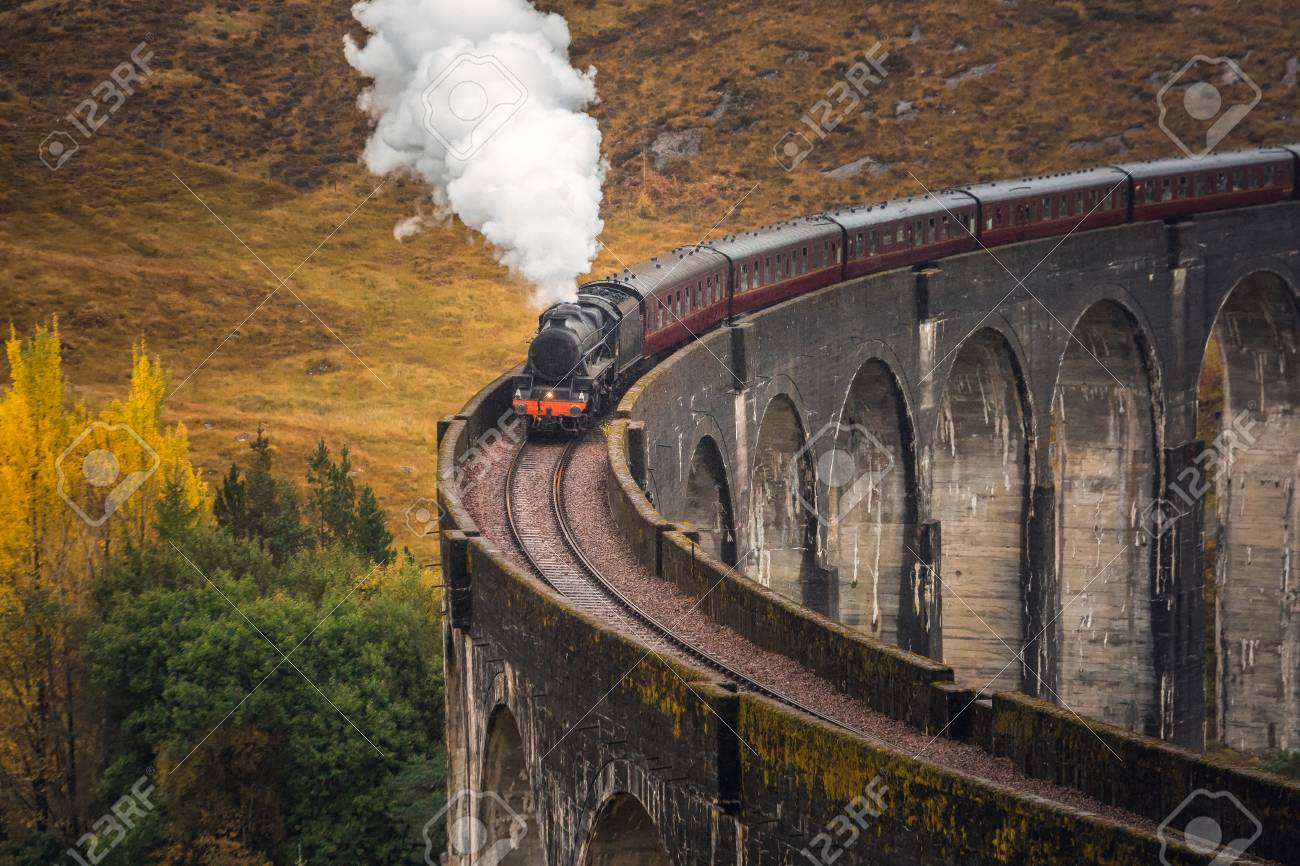 The Glenfinnan Viaduct is a railway viaduct on the West Highland Line in Glenfinnan, Inverness-shire, Scotland. - 113998697