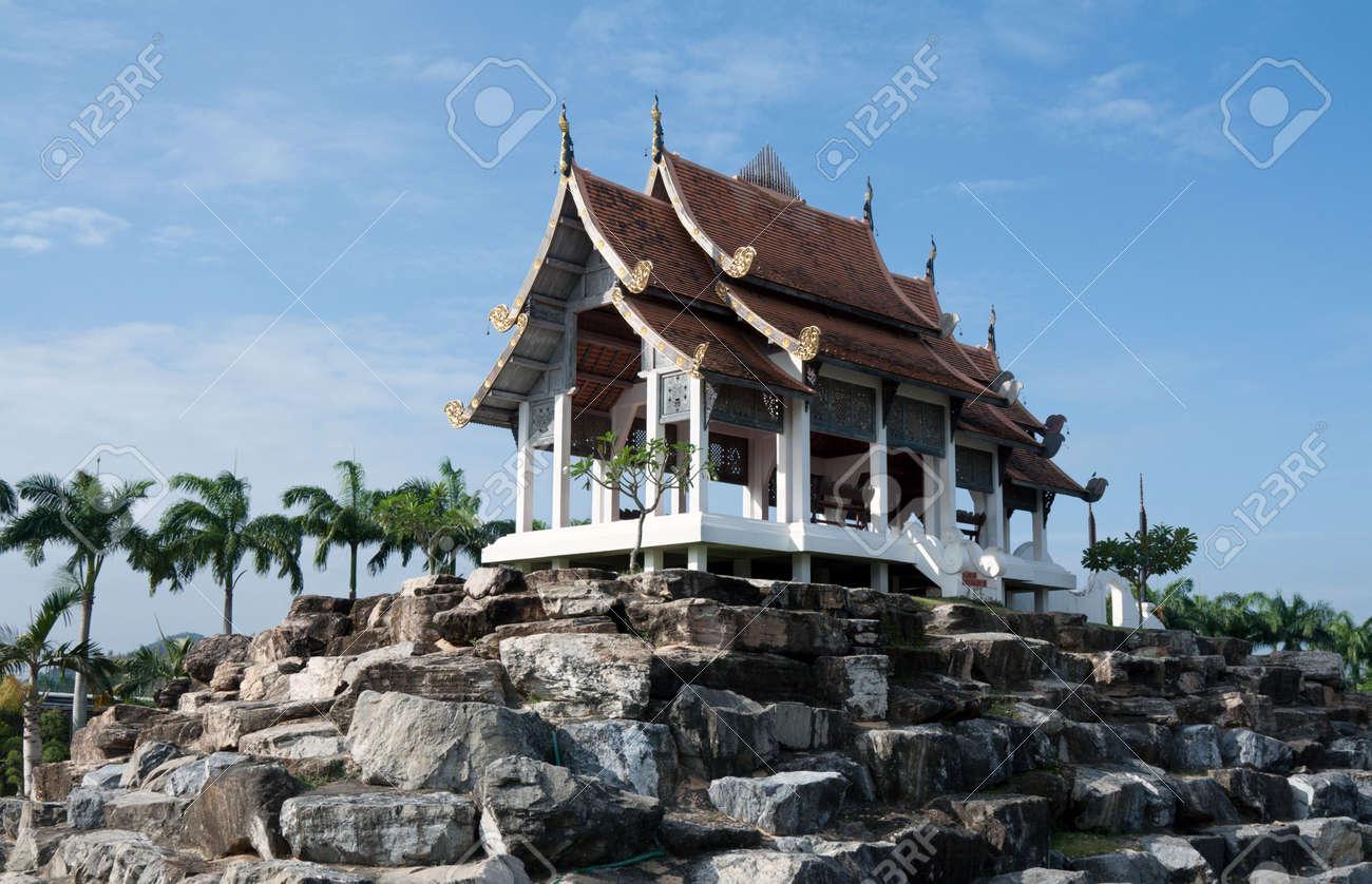 Chinese palace on stone on background blue sky Stock Photo - 6311858