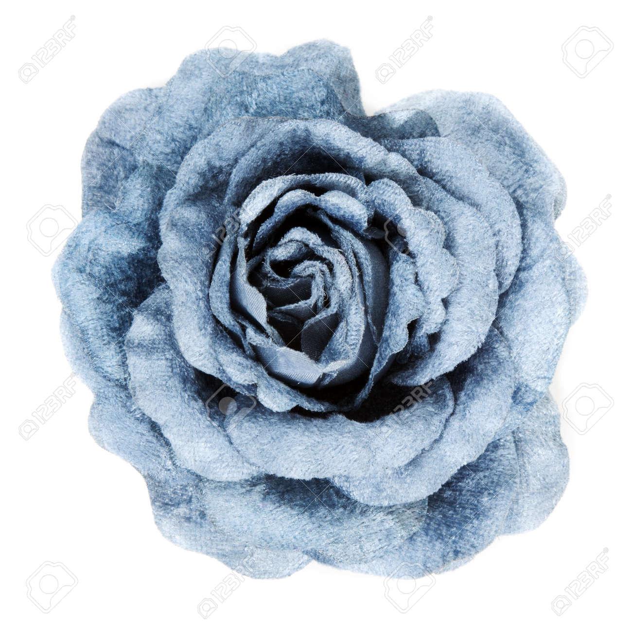 Blue fabrics rose insulated on white background Stock Photo - 8167632