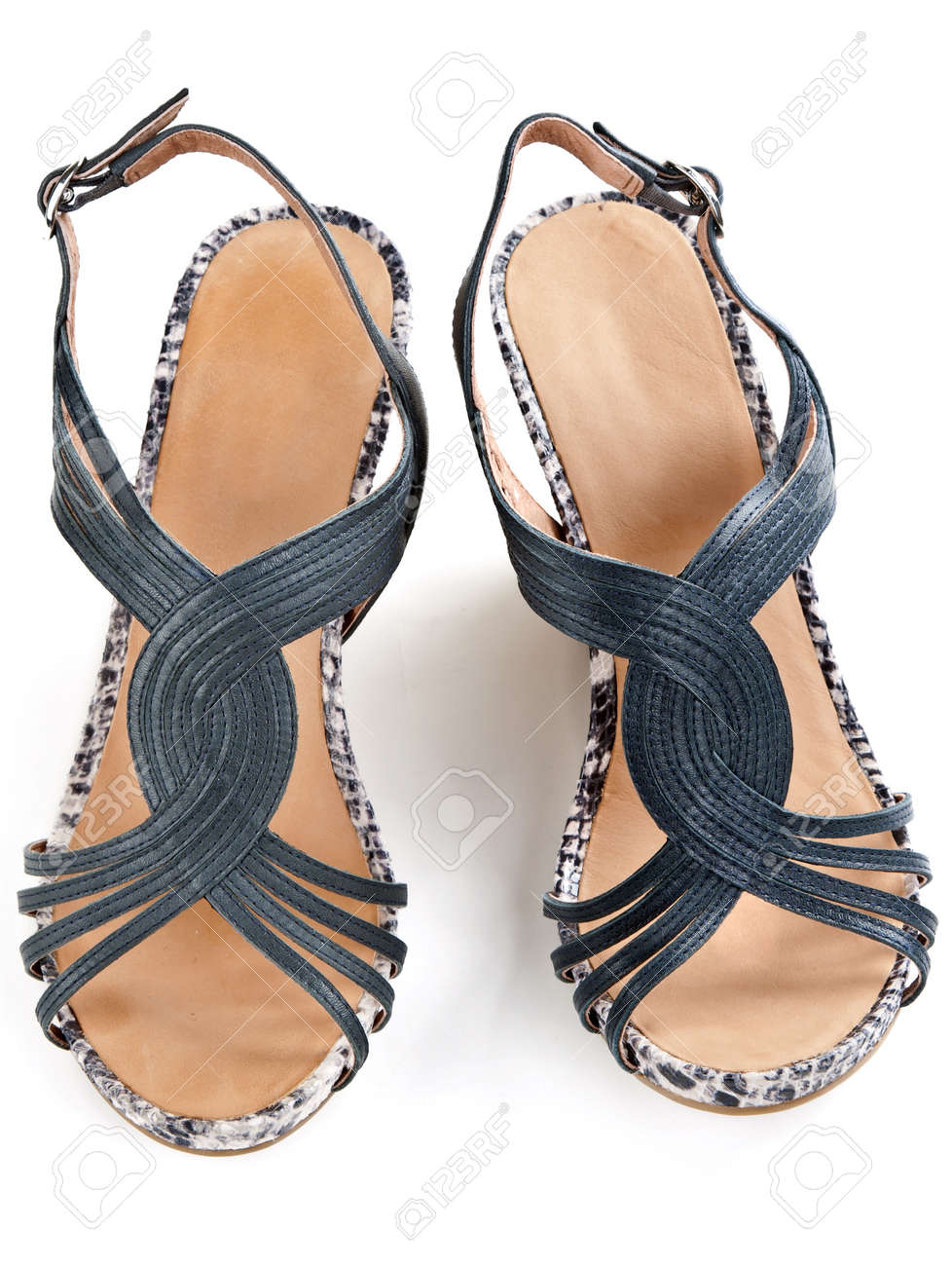 On Of White Women's Pair View A Background SandalsTop hrtdCQs