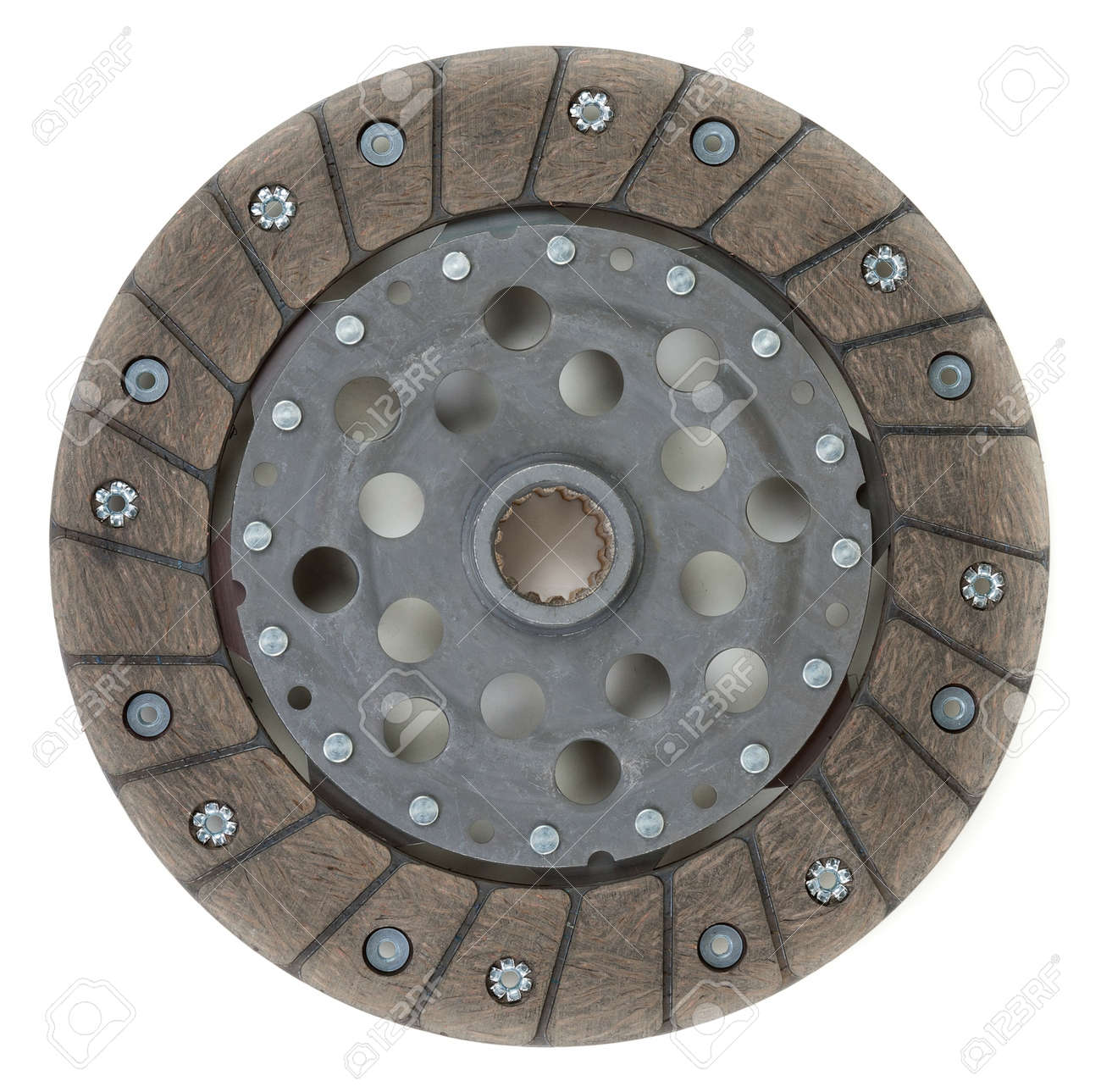a single dry clutch driven plate, auto spare part Stock Photo - 14192904