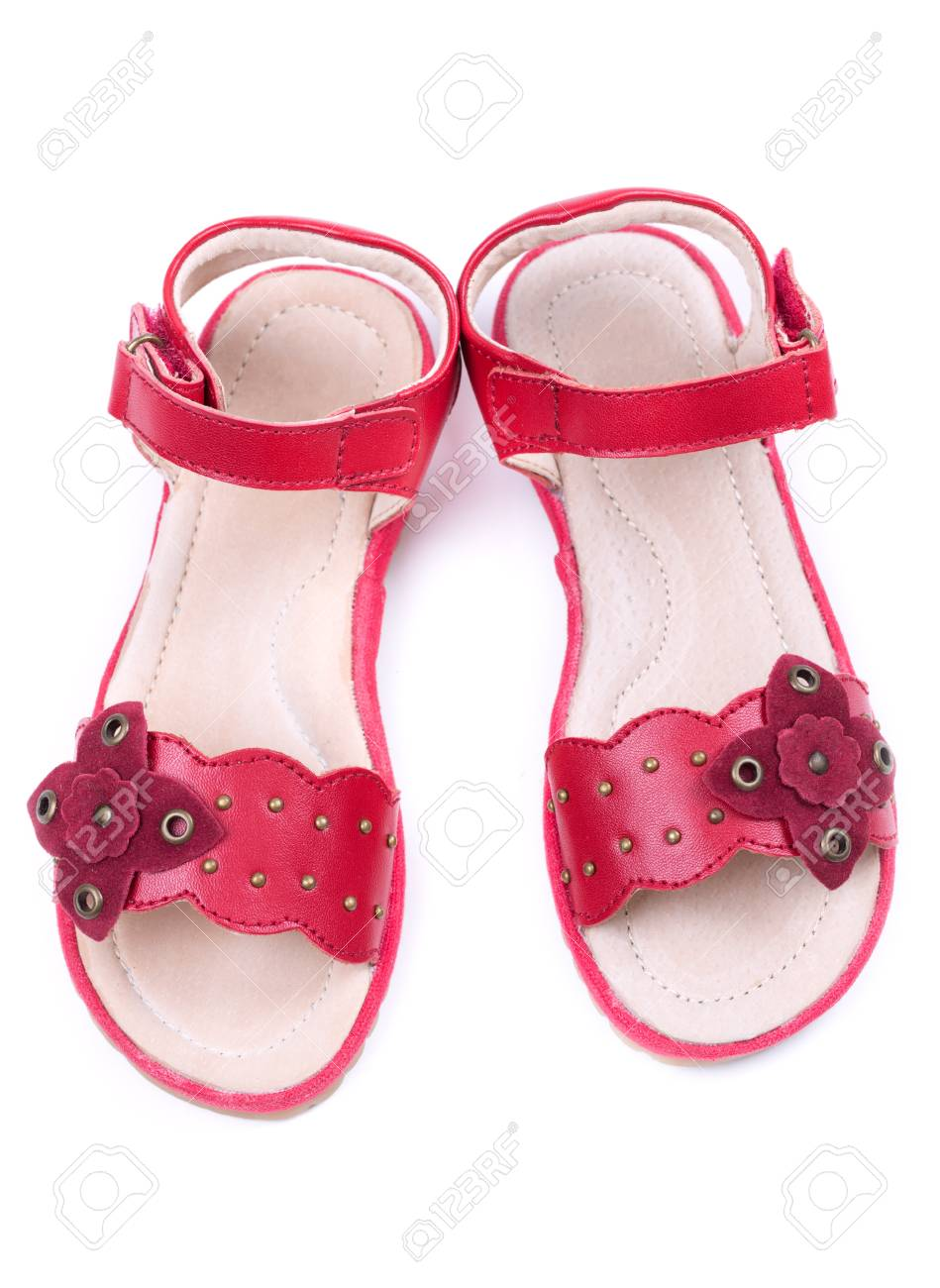 Red Shoes. Isolate On White Stock Photo