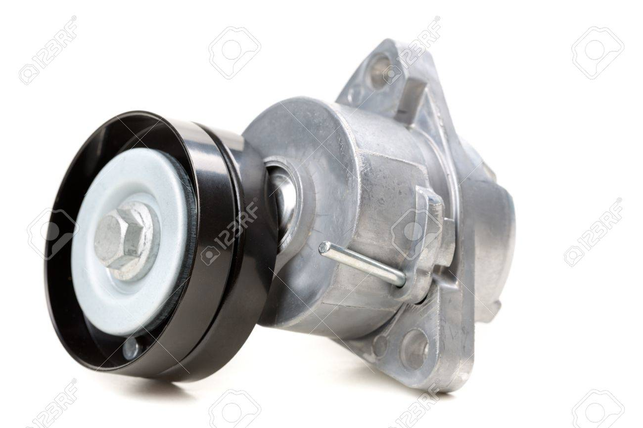 Generator Belt Tensioner Pulley Parts Of The Car Isolate On Stock Photo Picture And Royalty Free Image Image 16527833