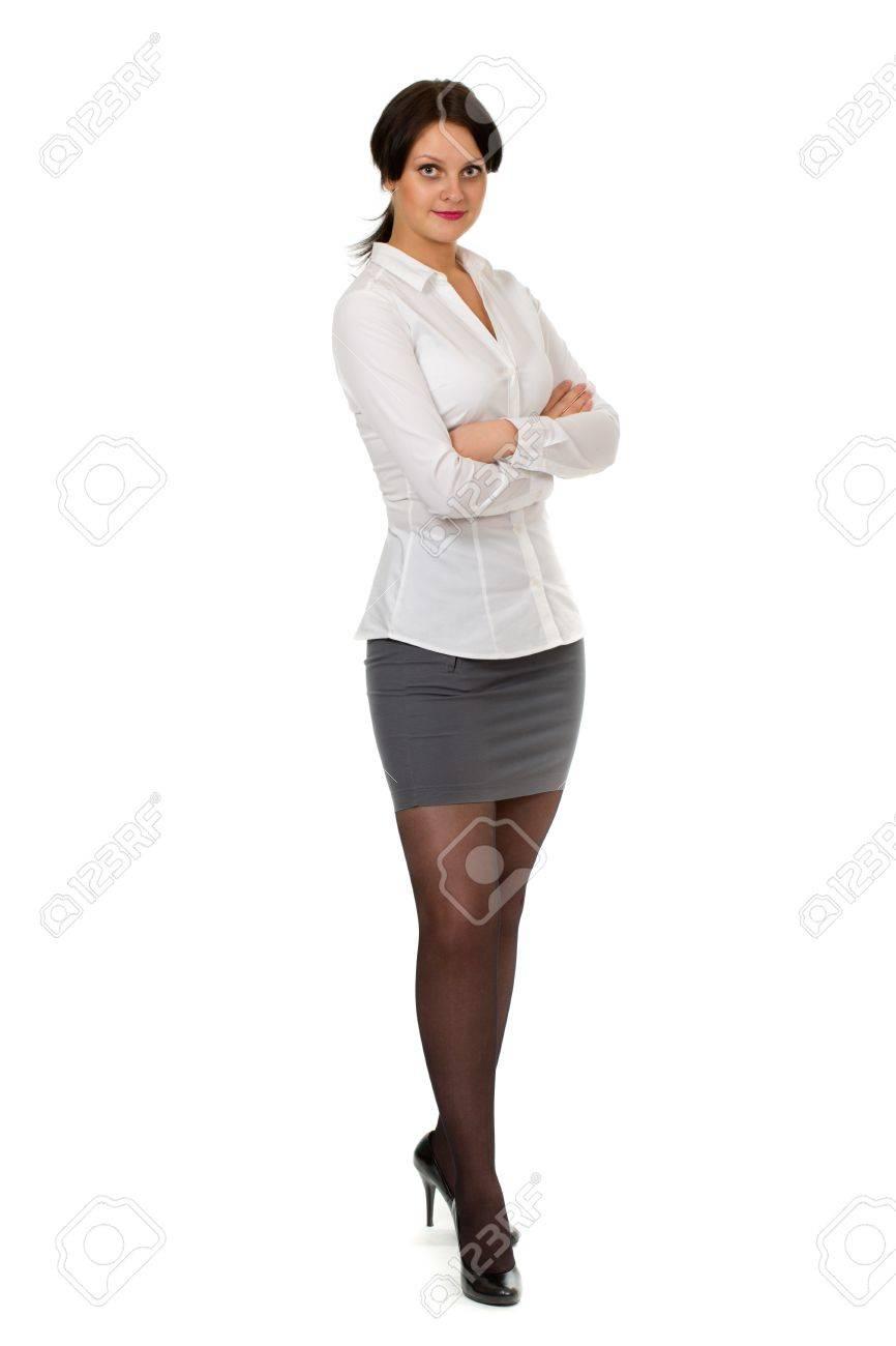 Женщина в строгом платье