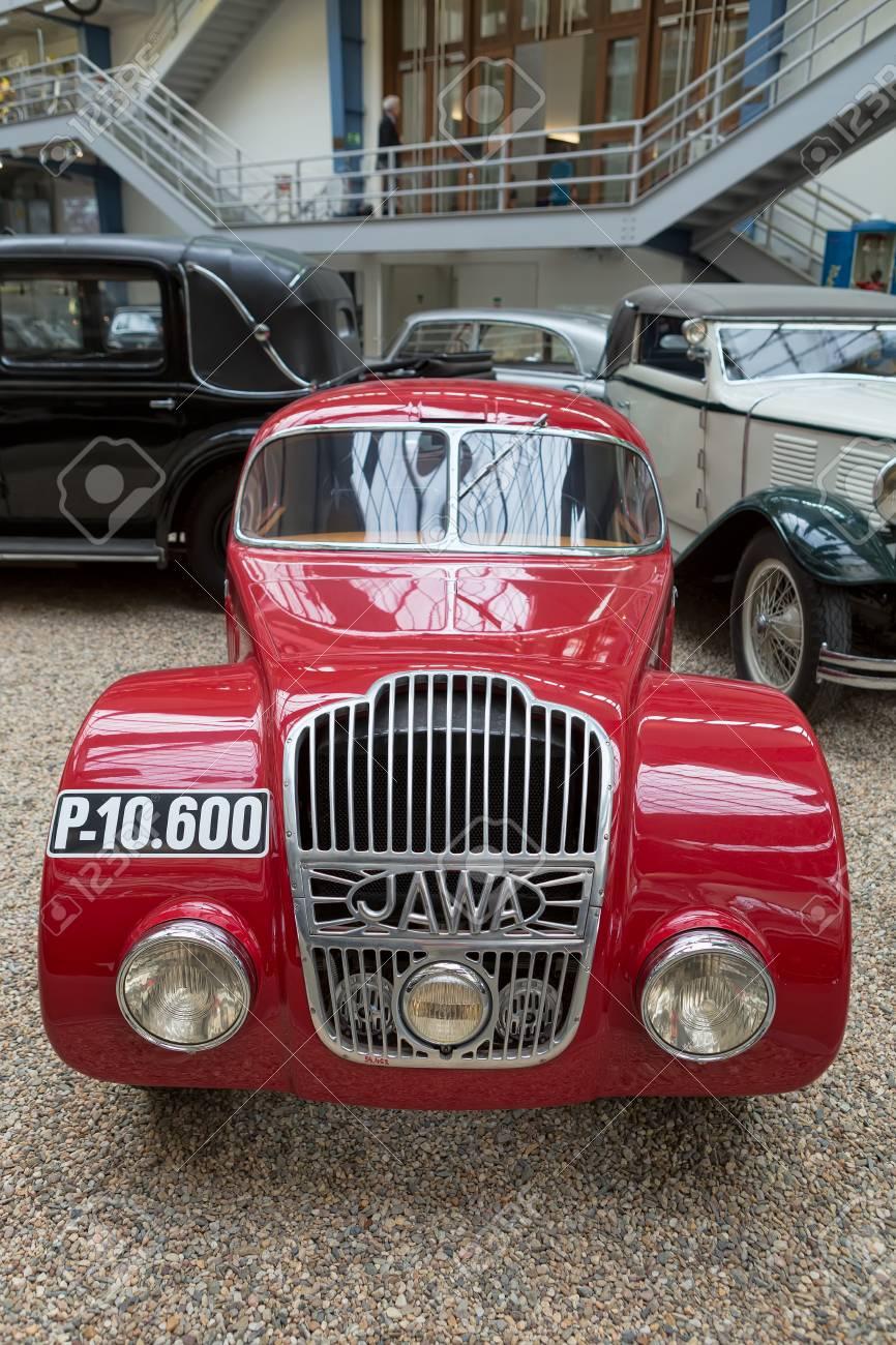 PRAGUE, CZECH REPUBLIC - MAY 2017: Car Java 750 1934 year,in