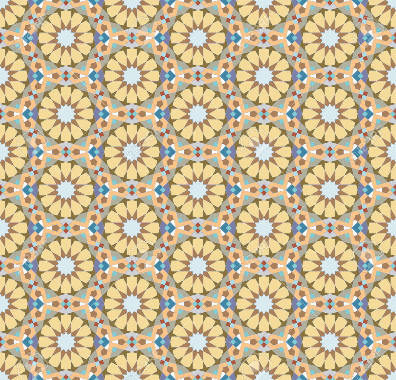 Colorful Floral Patterns Seamlessly Tiling Seamless Pattern