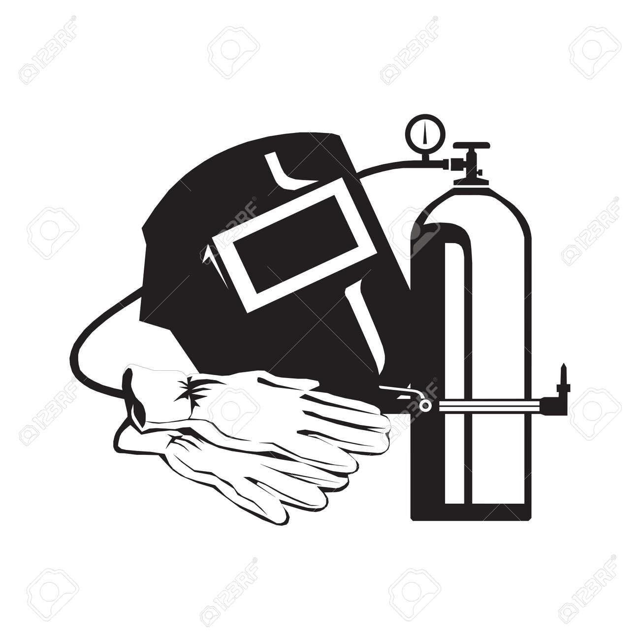 welder icon vector. welder vector graphic illustration - 132473826