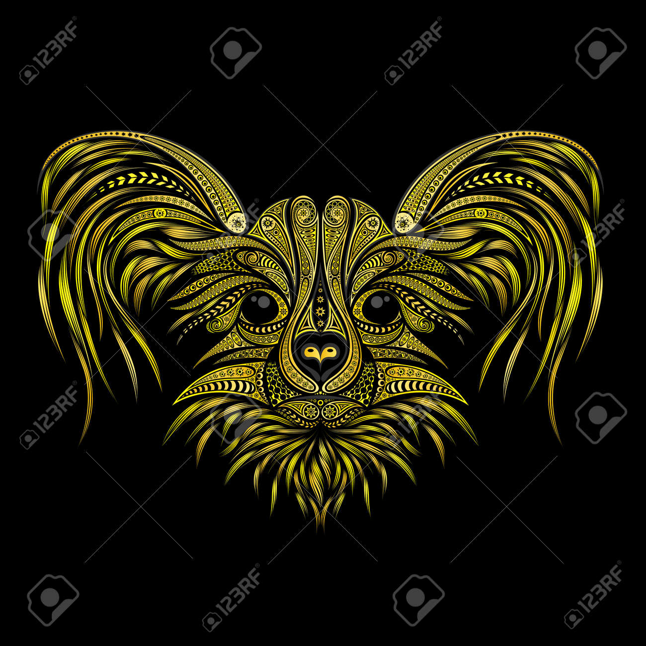 Yellow dog symbol of chinese new year 2018 vector animal of yellow dog symbol of chinese new year 2018 vector animal of beautiful patterns on voltagebd Image collections