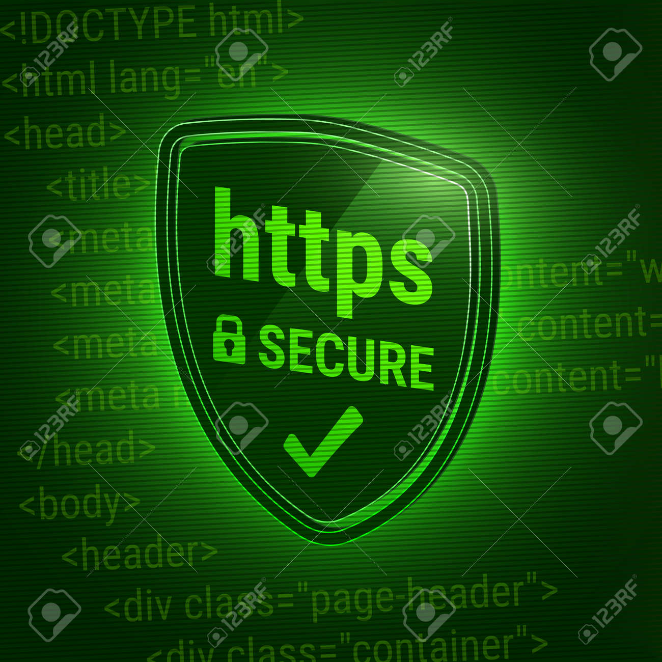 3D shiny shield  Secure https Protocol  Icon safe web  Closed
