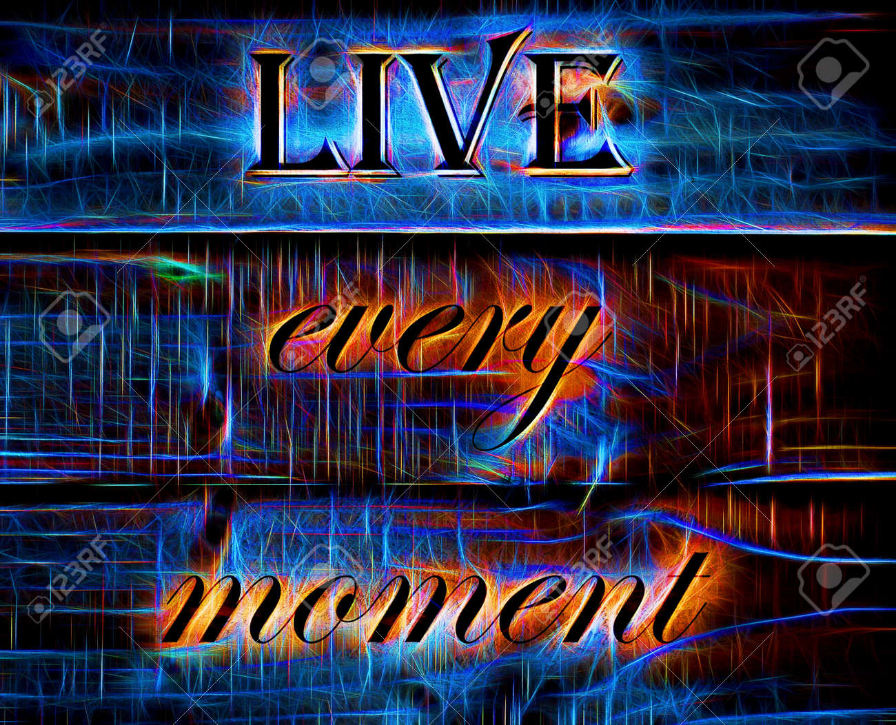 Live Every Moment Quote On Neon Background Stock Photo Picture And Royalty Free Image Image 38677990 Neon blue skull wallpaper viewing gallery 1920x1200. 123rf