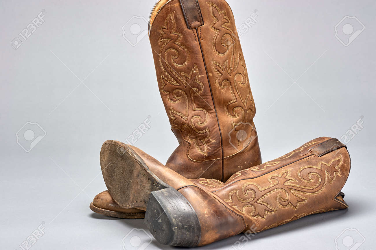 d265280c8ea pair of traditional cowboy boots worn for western horsemanship