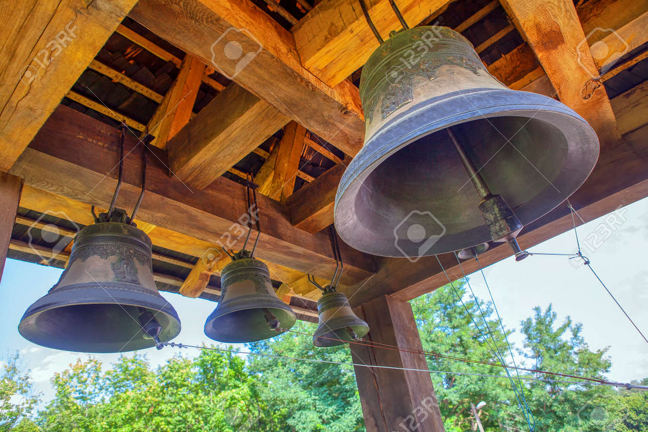 old church bells ringing out - 120199488