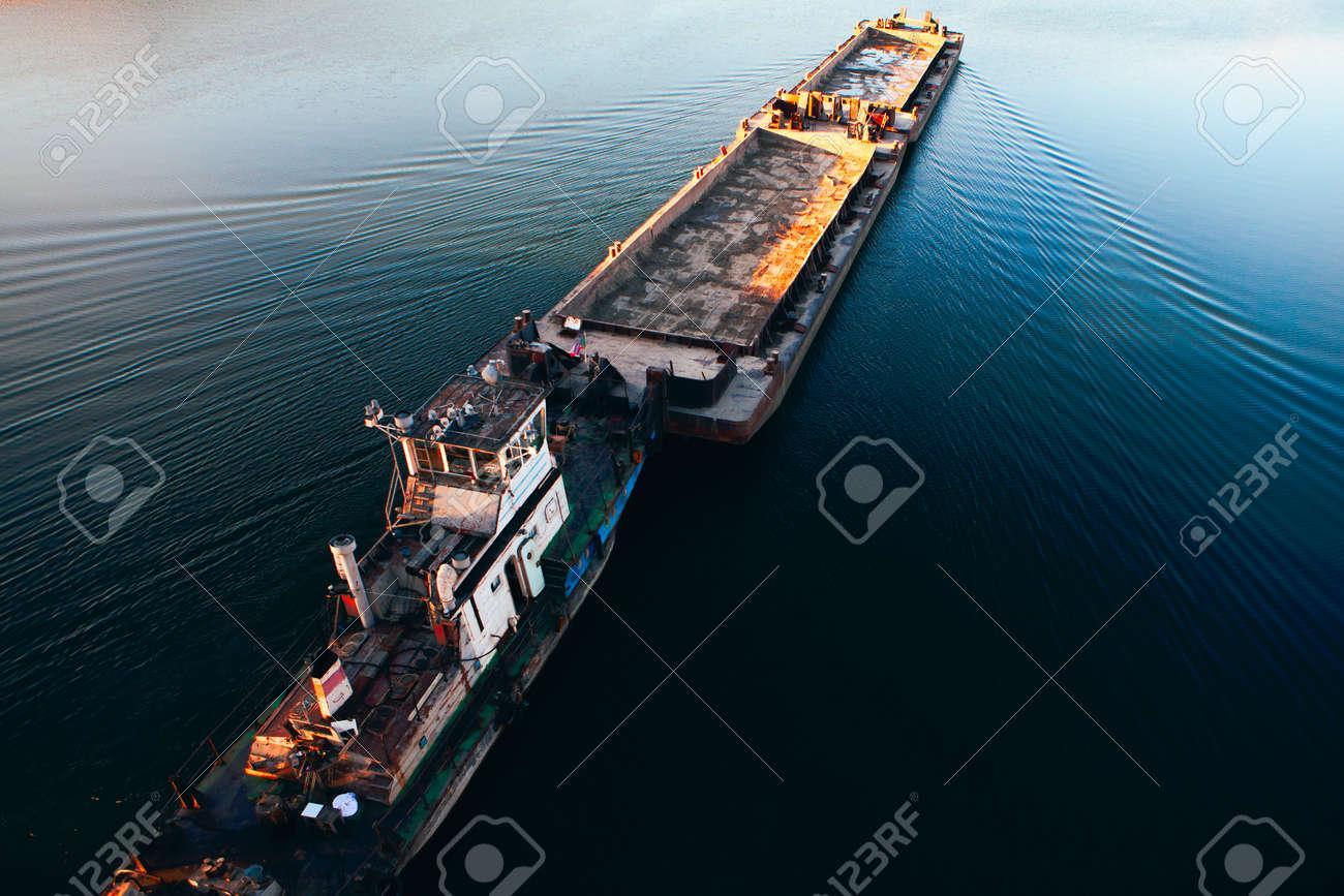 Freight shipping . Sailing cargo platform - 157390923