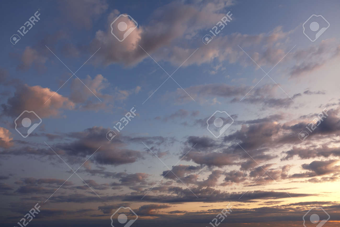 spectacular clouds in the morning sky at sunrise - 167986832
