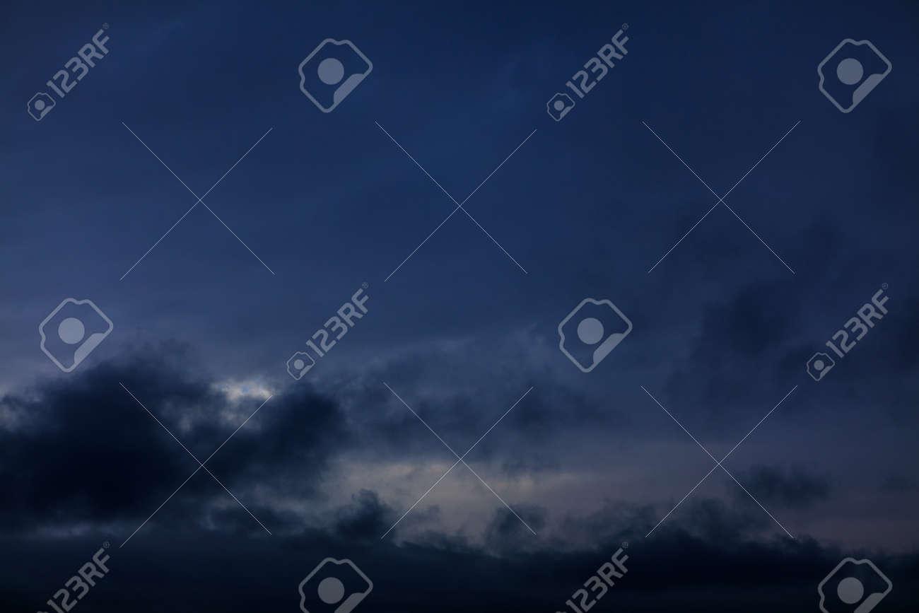 Black clouds at dark sky . Spooky heaven - 167986840