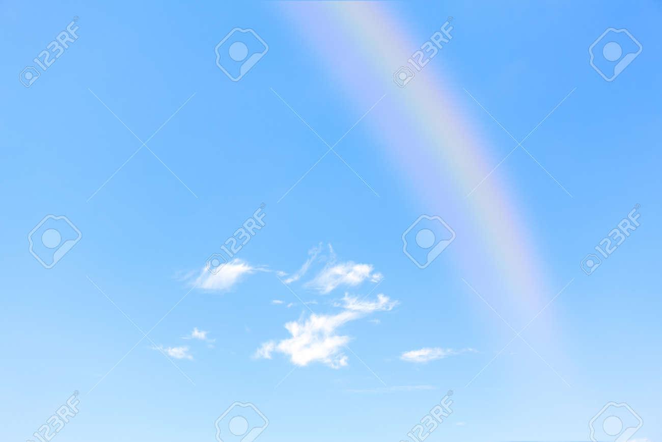 Rainbow on the clear sky . Sunny sky after rain - 170080858