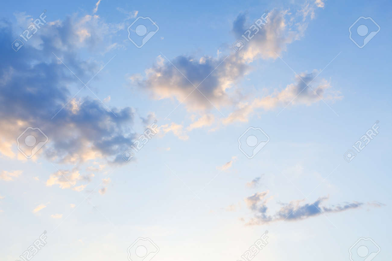 Clouds on sky at dawn . Summer morning heaven - 170163875