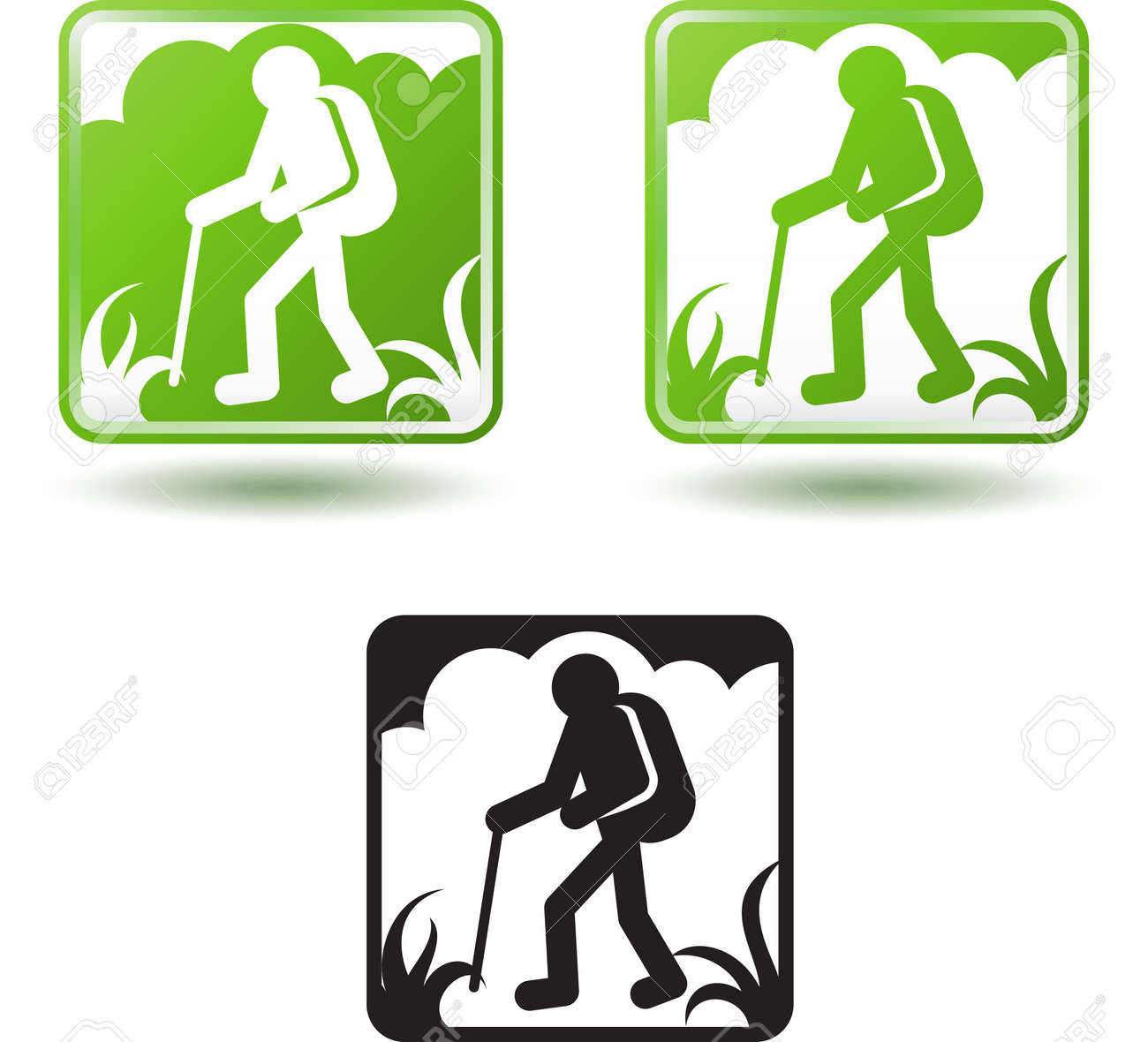 Tourism and active lifestyle, hiking Stock Vector - 13263266