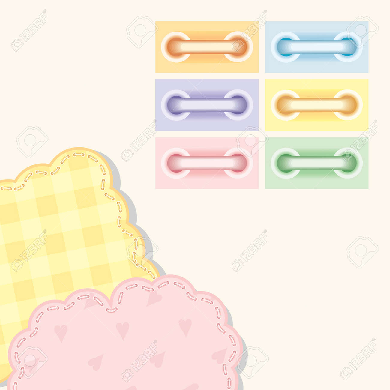 Colorful scrapbooking with lacing Stock Vector - 13301577