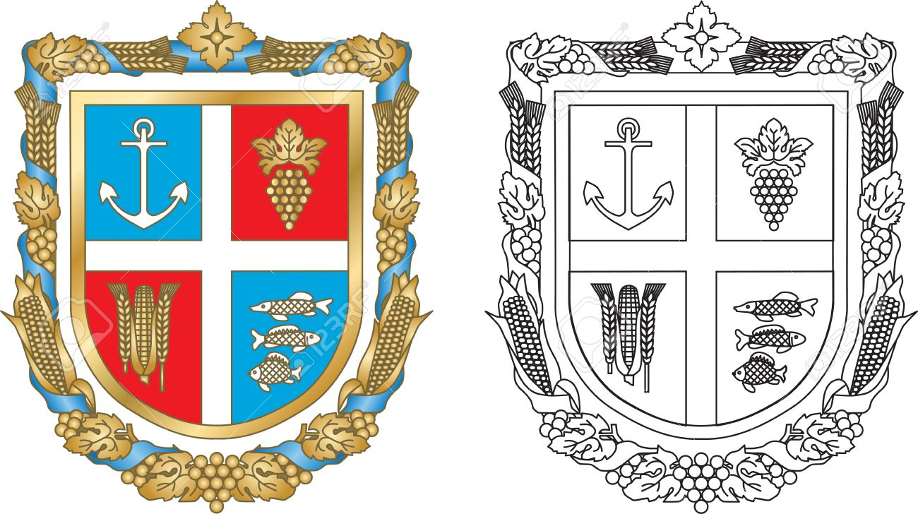 Emblem Reni district of Odessa region of Ukraine Stock Vector - 13301580