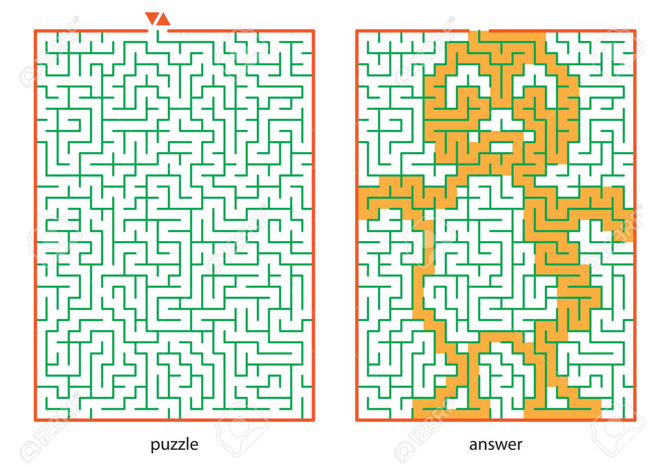 Children s picture logic puzzles, draw a line in this maze from