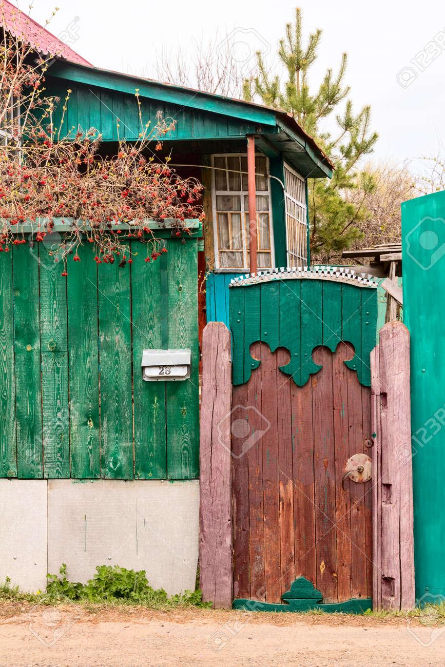 Old Ancient Wicket Door With An Old Fence Rustic House Stock Photo - 78331570 & Wood Wicket Doors u0026 A Wicket Door Is A Walk-through Door Within A ... pezcame.com