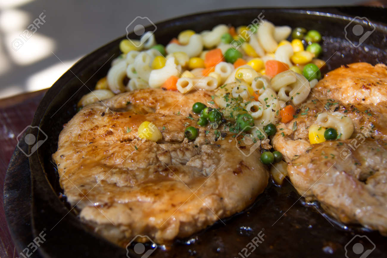 Close Up Of Delicious Grilled Seafood Platter Grilling Steaks Stock Photo Picture And Royalty Free Image Image 74957908