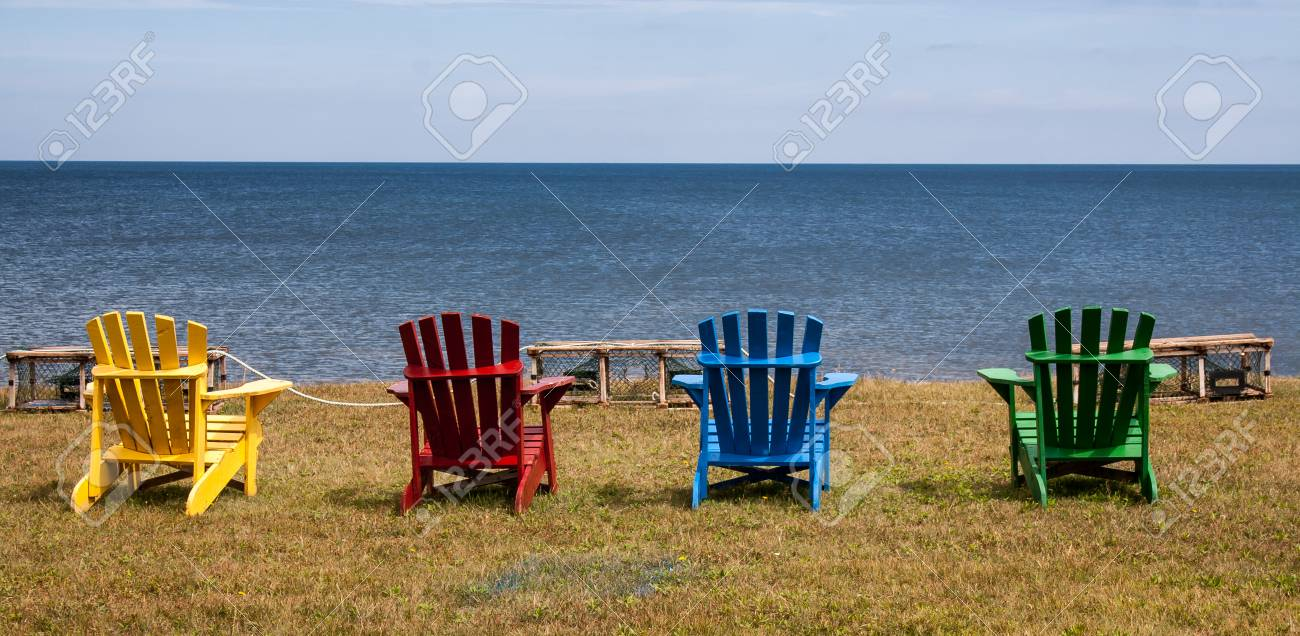 Colorful Adirondack Chairs Stock Photo   41757788