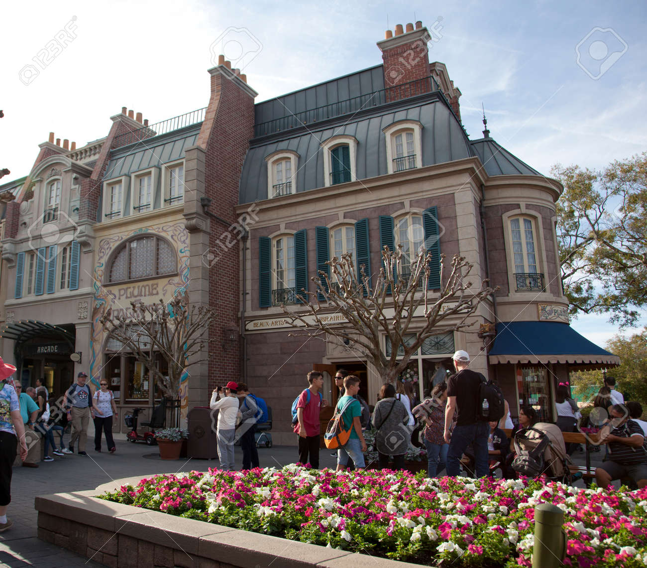 Orlando, Florida- February 5, 2018: little stores at Epcot's