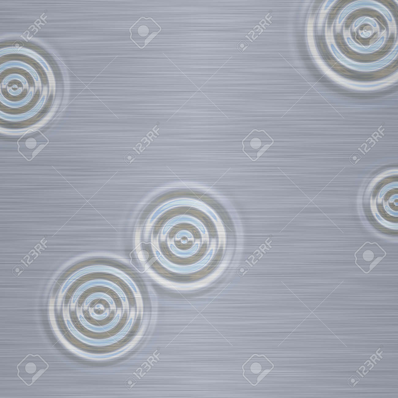 water drop type effect in a brushed metal / steel base Stock Photo - 1124821