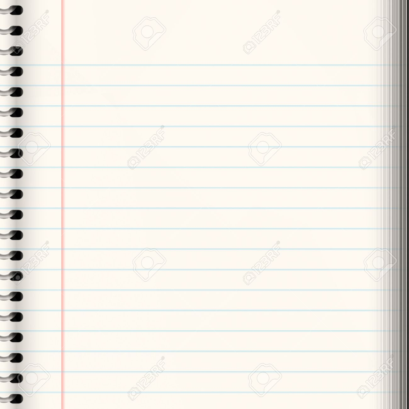 Nice Image Of A Book Of Ruled Or Lined Paper Photo Picture – Lined Paper with Picture