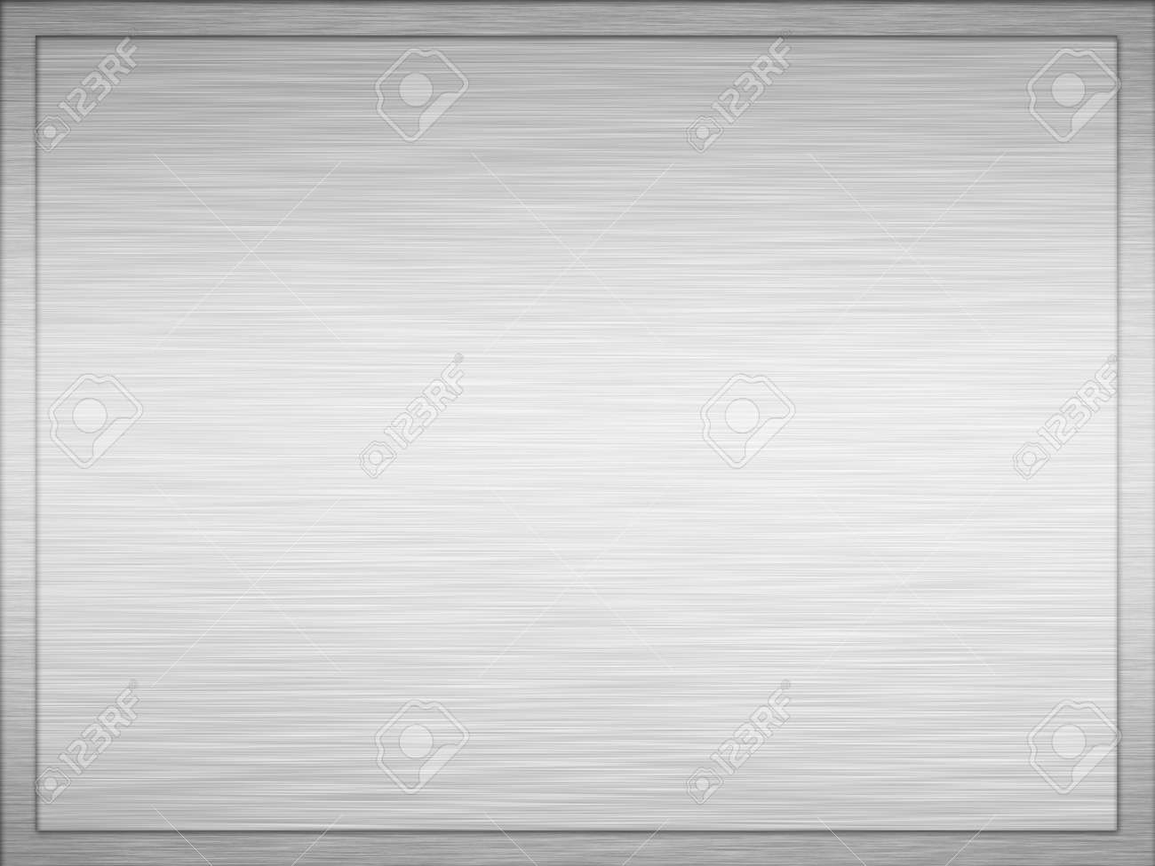 large image of a brushed metal plaque Stock Photo - 1566782