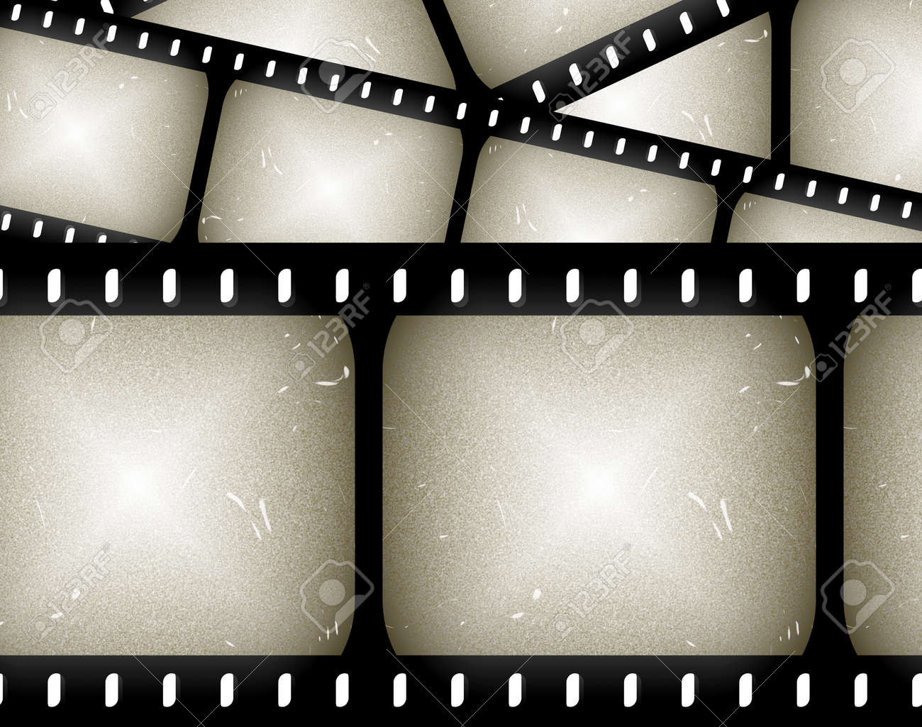 Abstract Composition Of Movie Frames Or Film Strip Stock Photo ...