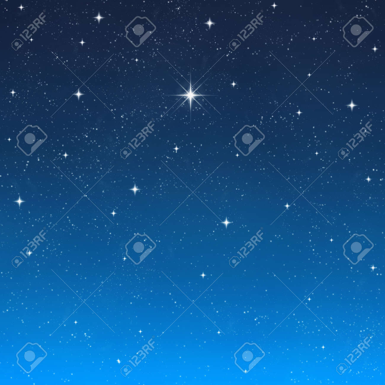 a single bright wishing star stands out from all the rest Stock Photo - 2378061