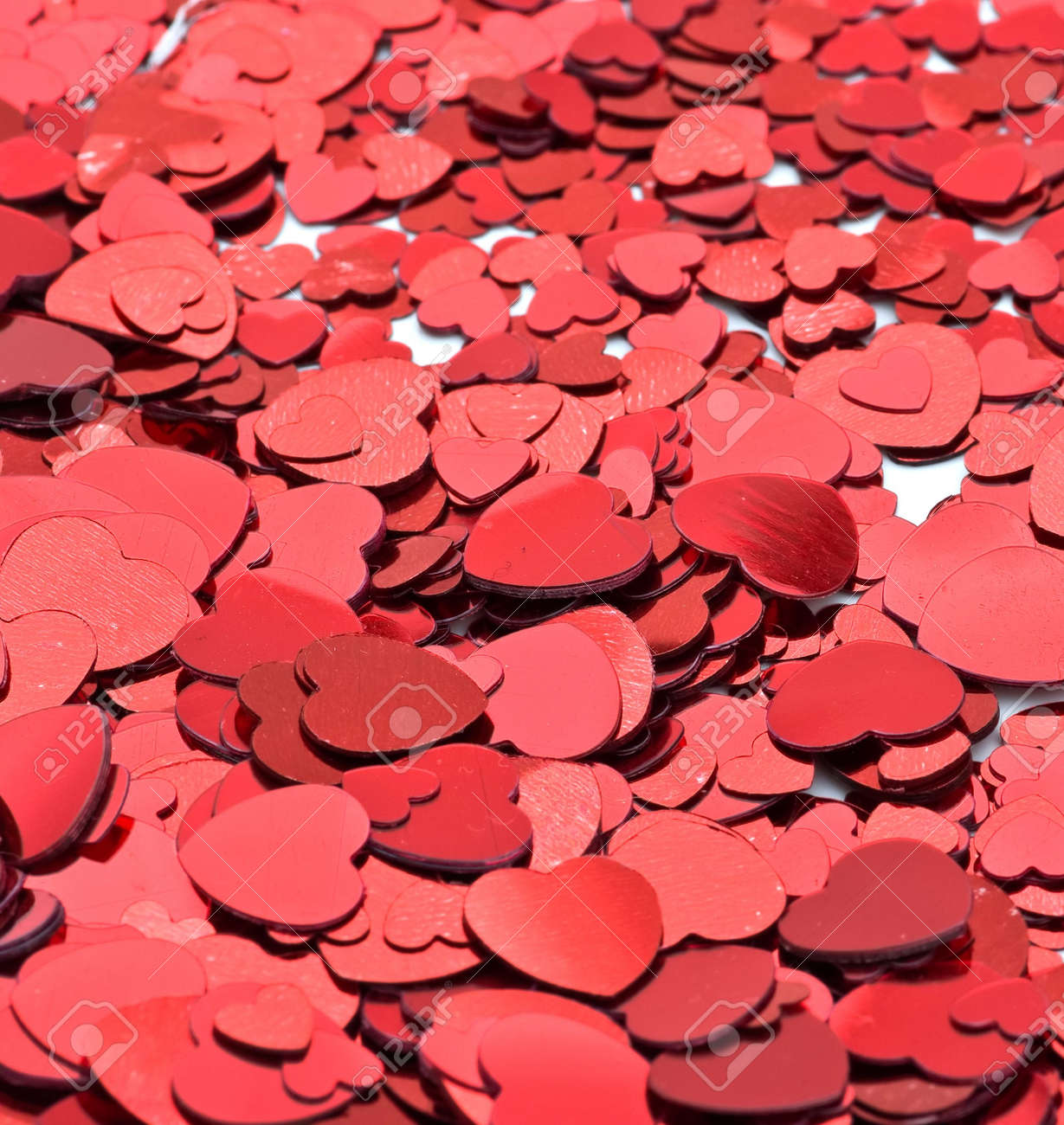 Red Hearts Scattered Around For A Nice Valentines Background Stock Photo    2425349