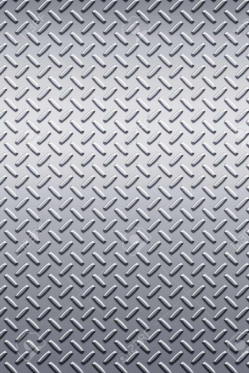 enormous sheet of diamond plate metal great for sign or bill boards Stock Photo - 2918957