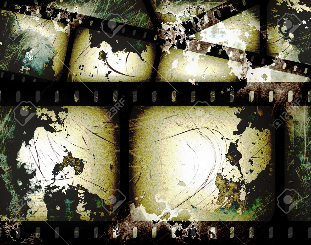 Resumen La Composición De Fotogramas De Películas O Tira De Película ...