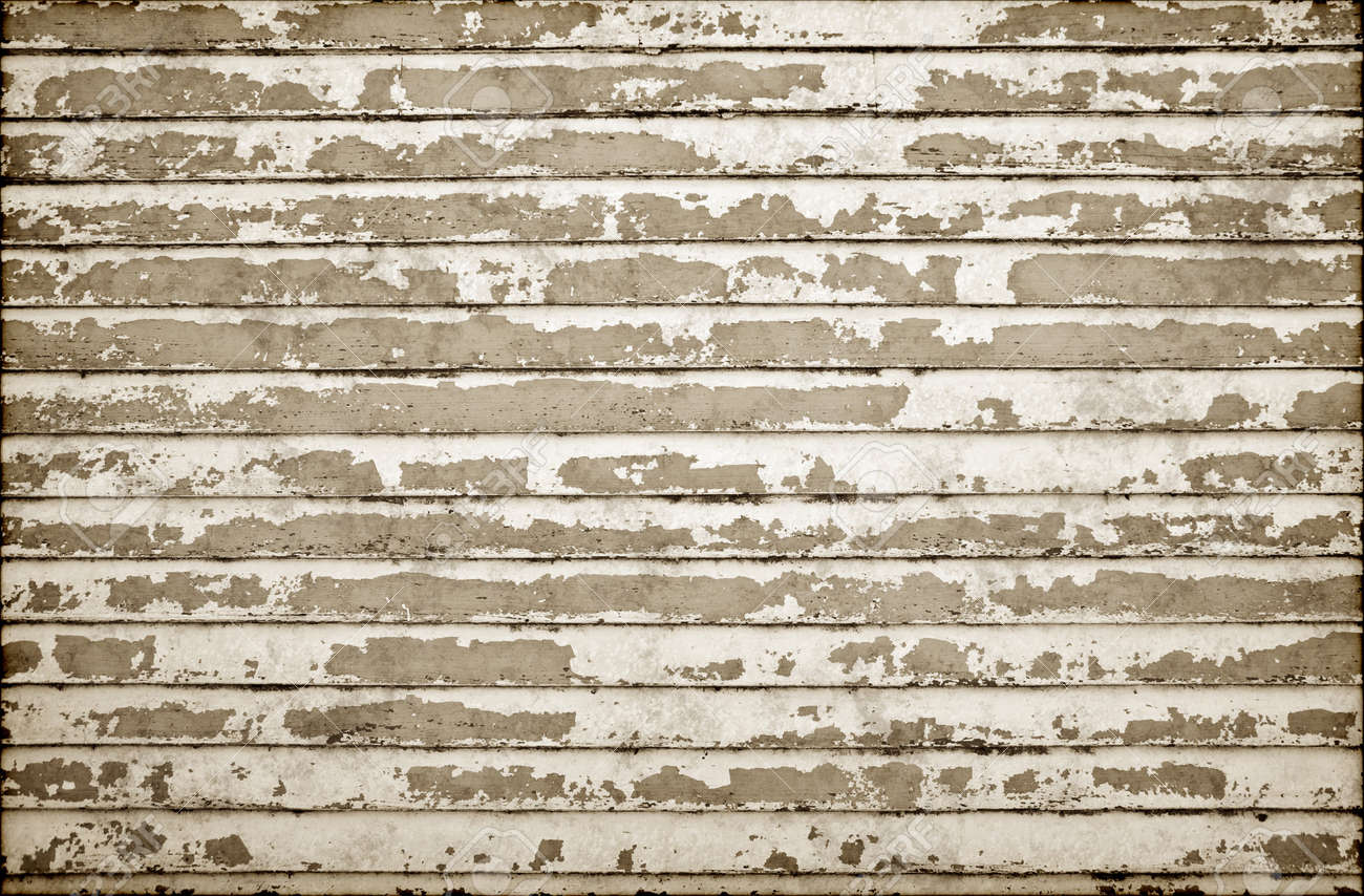 Old Weatherboard Wooden Wall All The Paint Peeling Stock Photo