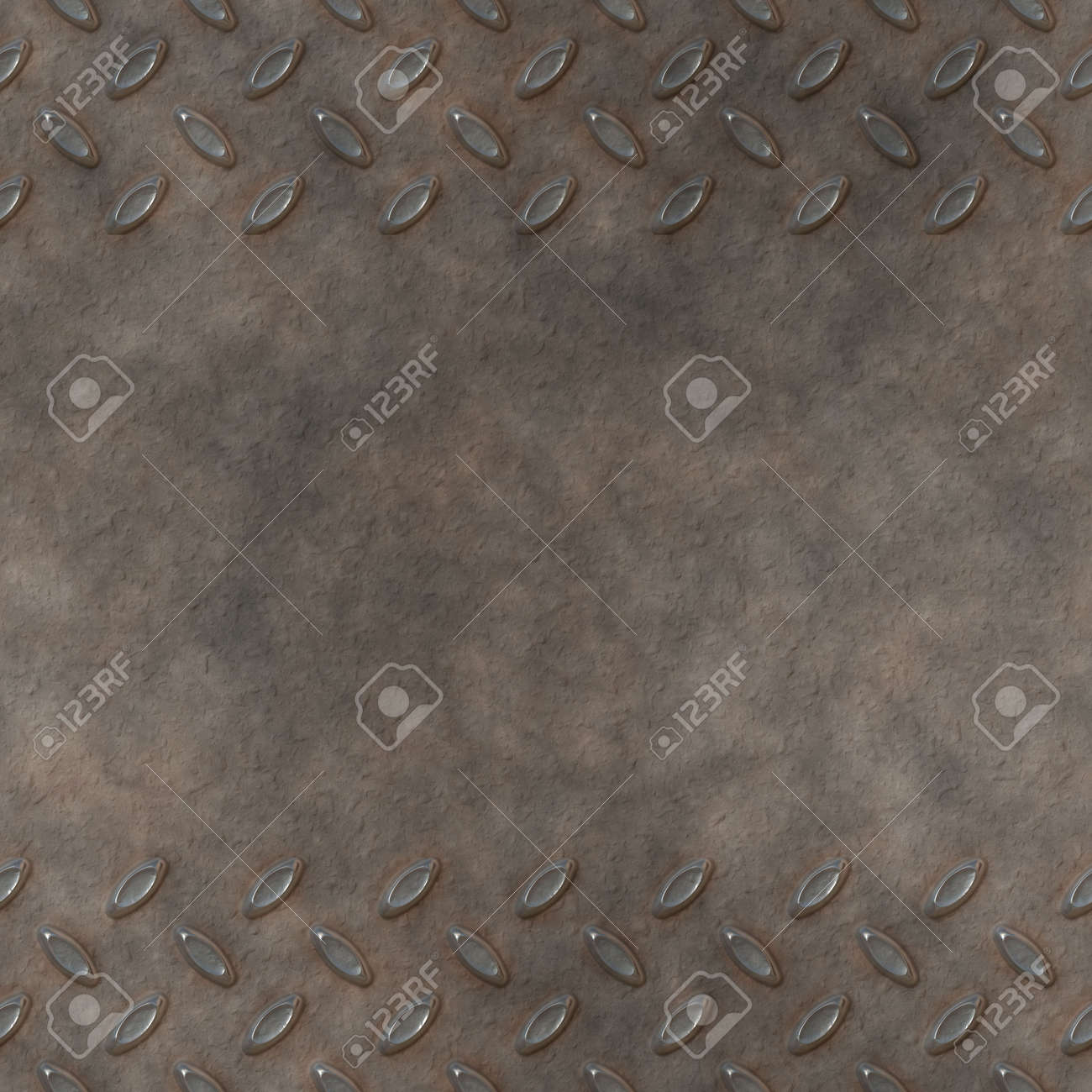 great image of diamond or checker plate with copy space Stock Photo - 5972406