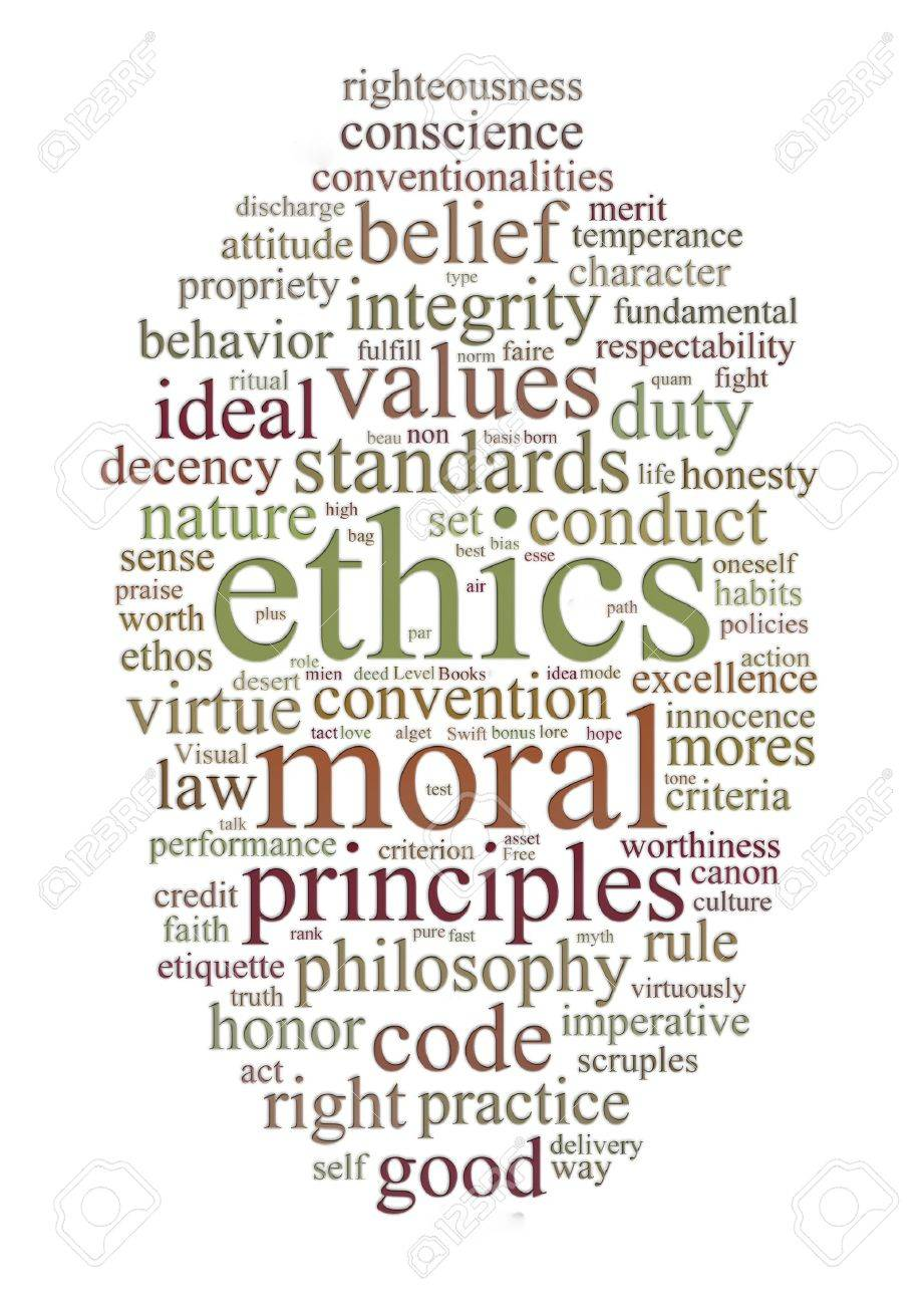 word or tag cloud of ethics morals and values words Stock Photo - 7022713