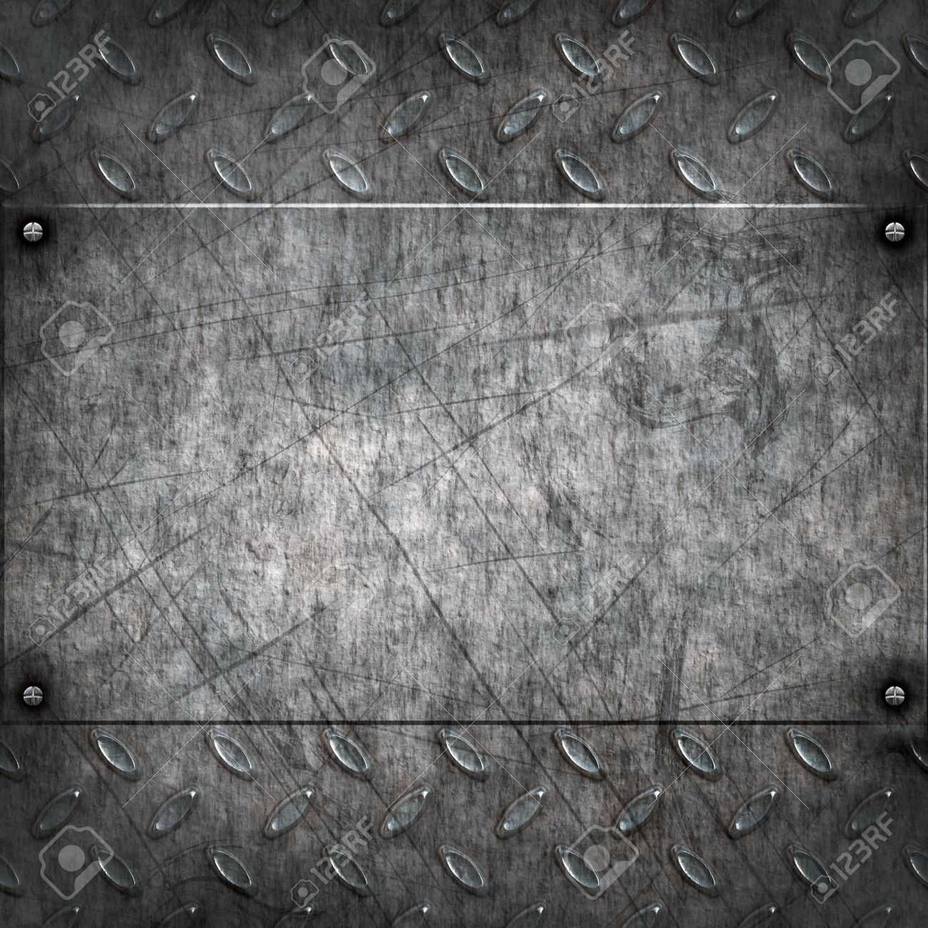 old dirty and grungy diamond plate metal background Stock Photo - 7195522