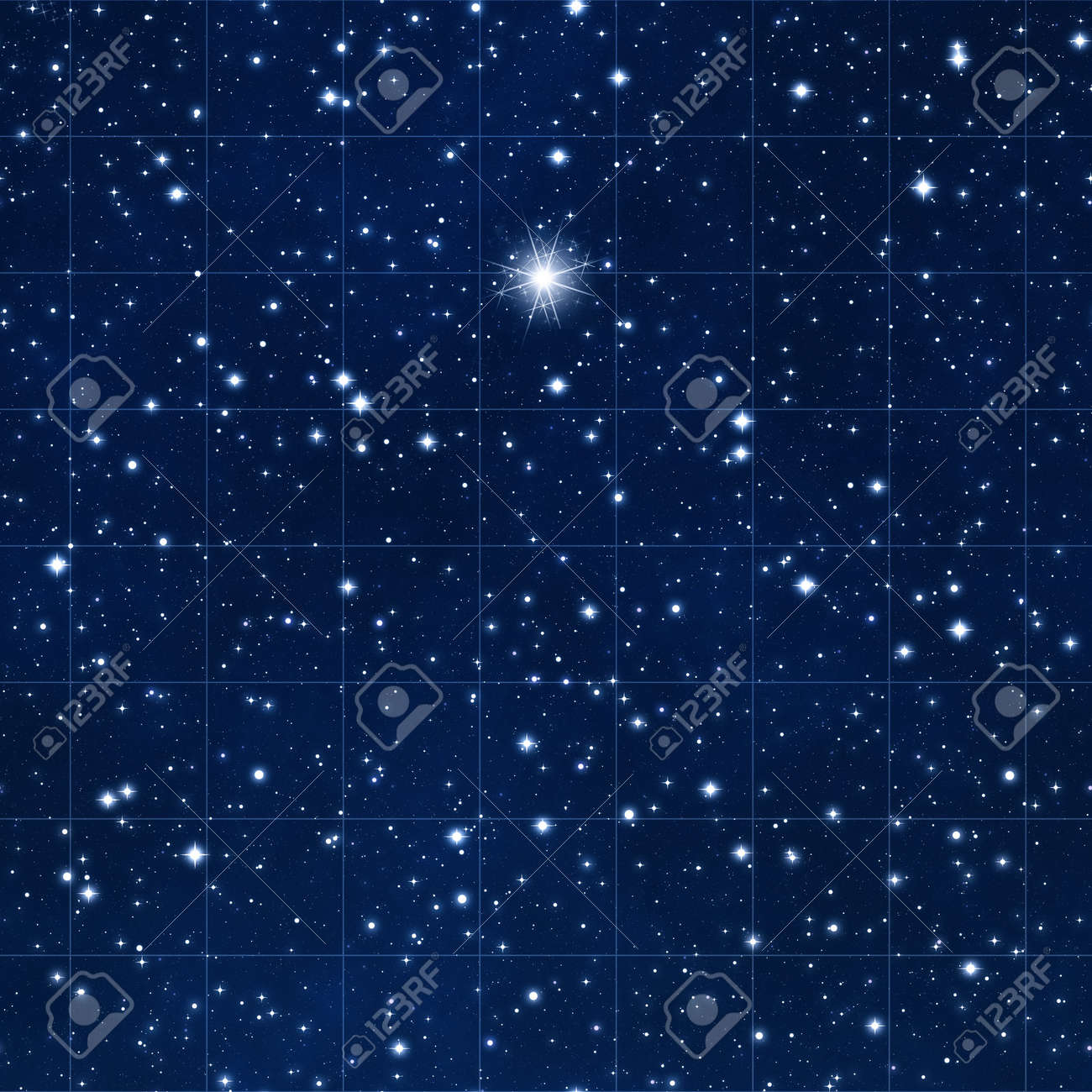 reach for the stars with space gridded starmap and bright destination star Stock Photo - 7384622
