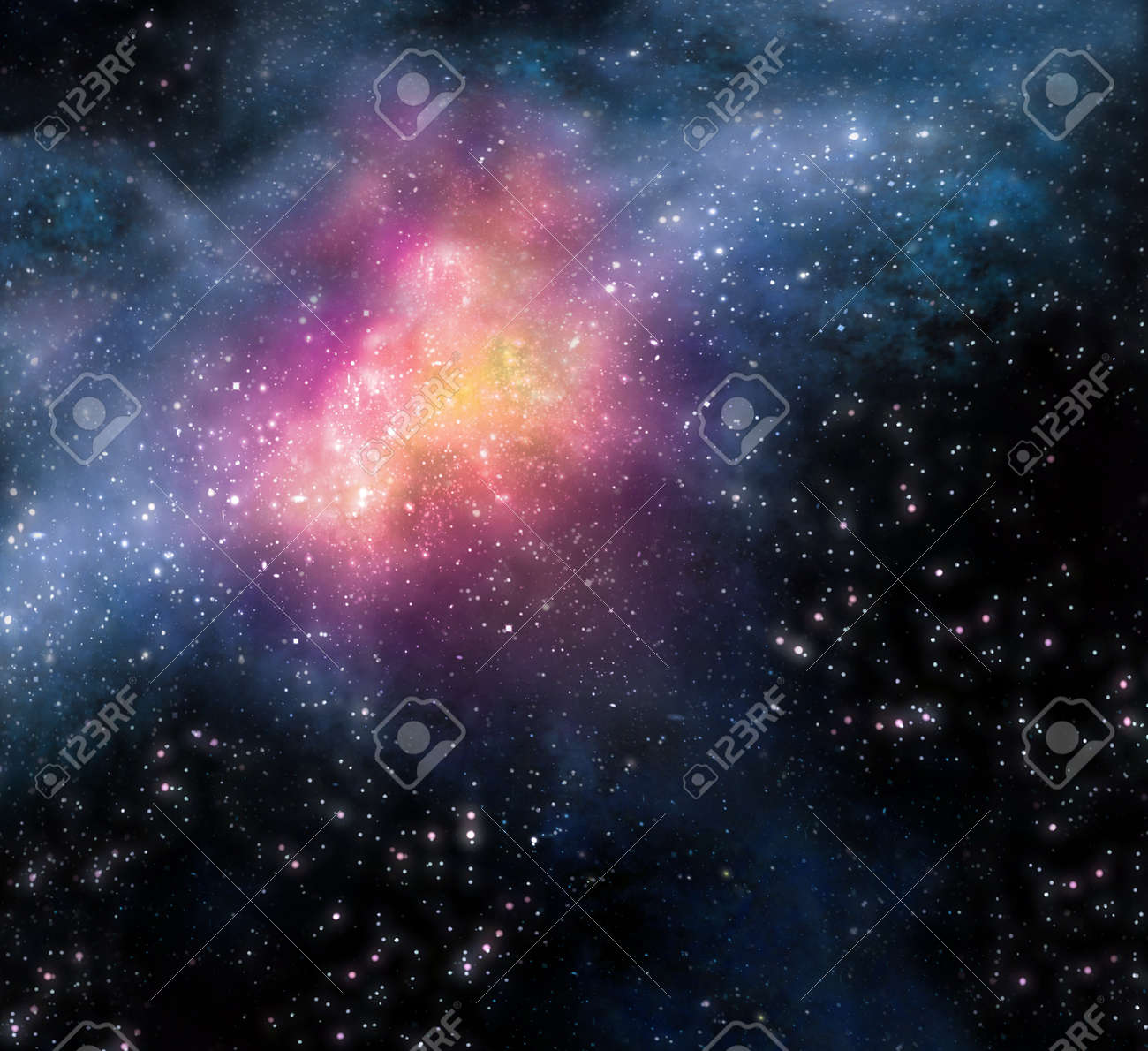 starry background of stars and  nebulas in deep outer space Stock Photo - 7517585