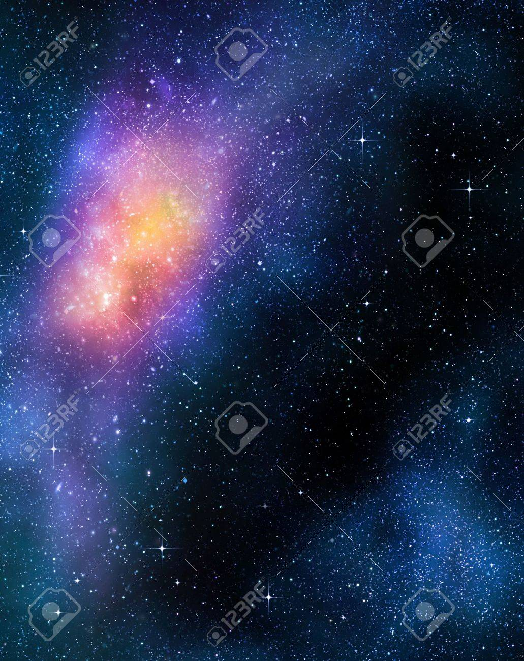 deep outer space background with stars and nebula Stock Photo - 8379509