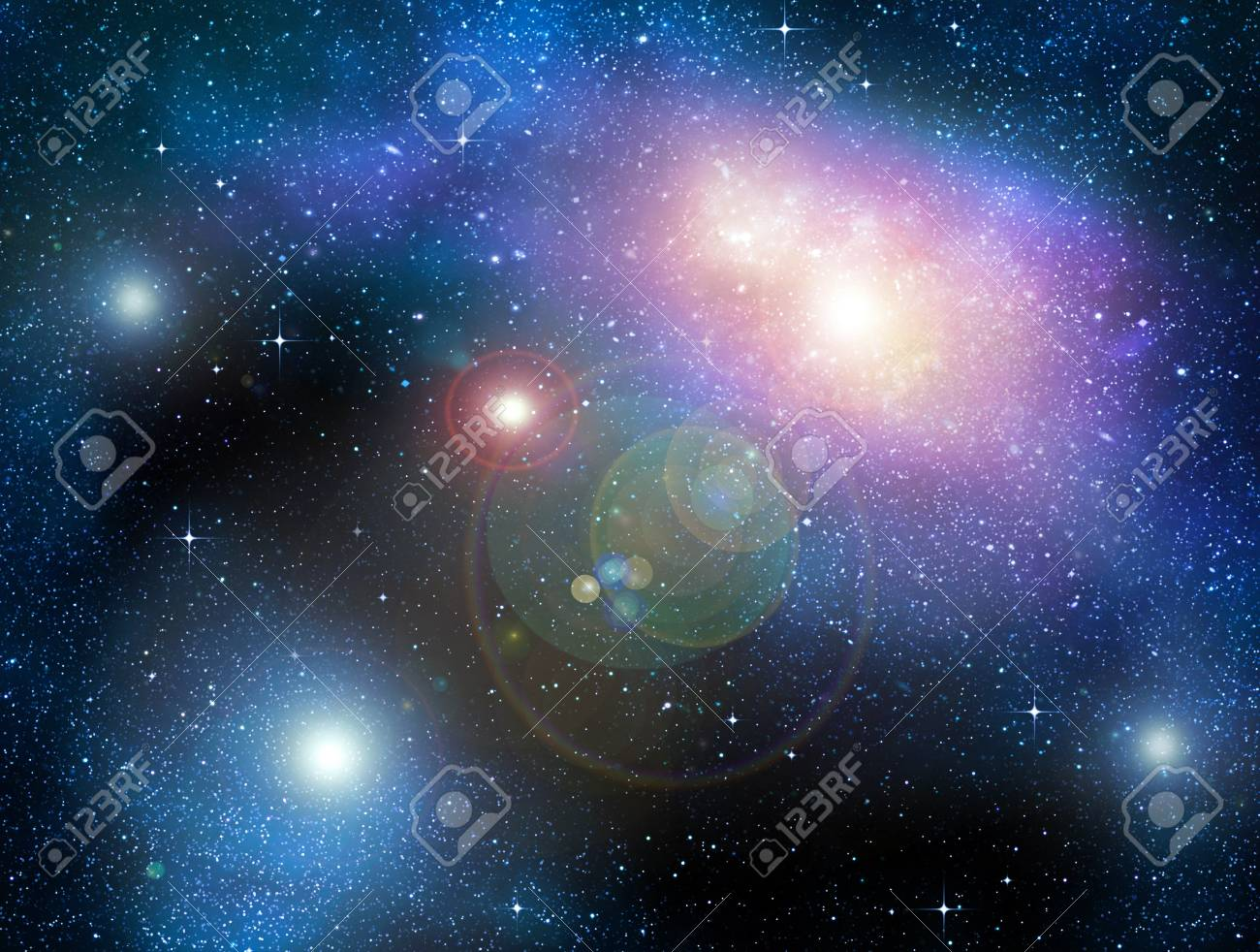 deep outer space background with stars and nebula Stock Photo - 8767295