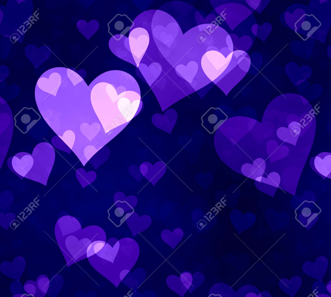 great illustration of pink and blue  love heart symbols Stock Illustration - 9420647