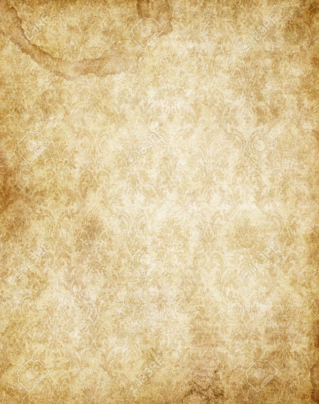 Bien connu Vieux Jaune Brun Texture Vieux Papier Parchemin Banque D'Images Et  DA74