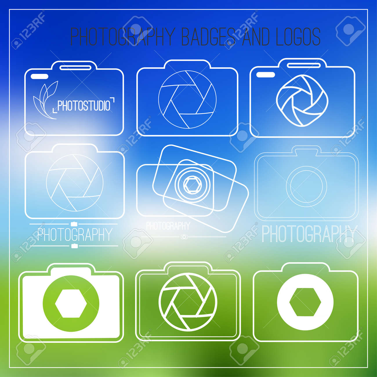 Photography icon set.Photography vintage badges and icons. Modern mass media icons. Photo labels - 39309556